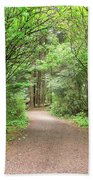 Hiking Trail Along Lewis And Clark River Hand Towel
