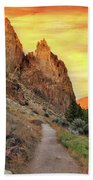 Hiking Trail At Smith Rock State Park Hand Towel