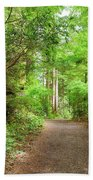 Hiking Trail Through Forest Along Lewis And Clark River Bath Towel