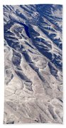 Hills And Valleys Aerial Bath Towel