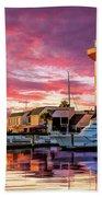 Hilton Head Harbour Town Lighthouse Bath Towel by Christopher Arndt