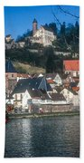 Hirschhorn Village On The Neckar Bath Towel