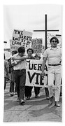 Hispanic Anti-viet Nam War March 1 Tucson Arizona 1971 Bath Towel