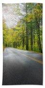 Historic Columbia River Highway In Fall Bath Towel