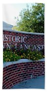 Historic Downtown Lancaster Bath Towel