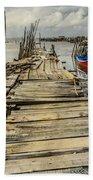 Historic Fishing Pier In Portugal I Bath Towel
