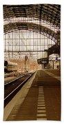 Historic Railway Station In Haarlem The Netherland Bath Towel