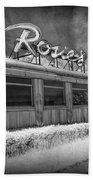 Historic Rosie's Diner In Black And White Infrared Bath Towel