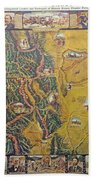 Historical Map Of Early Colorado Bath Towel