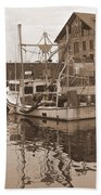 Historical Waterfront  Bath Towel