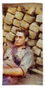 History In Color. French Resistance Fighter, Wwii Bath Towel