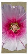 Hollyhock On Linen 2 Bath Towel