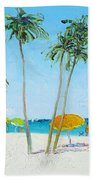 Hollywood Beach Florida And Coconut Palms Hand Towel