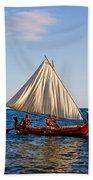 Holokai - Pacific Islander Sailing Canoe Bath Towel