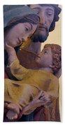 Holy Family Statue Bath Towel