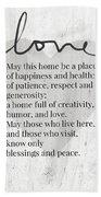 Home Blessing Rustic- Art By Linda Woods Bath Towel