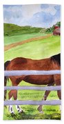 Home On The Farm Bath Towel