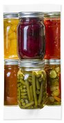 Homemade Preserves And Pickles Bath Towel