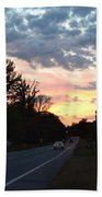 Homeward Bound Evening Sky Bath Towel