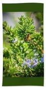 Honey Bee On Bush Bath Towel