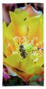 Honeybee At Work Bath Towel