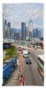 Hong Kong Traffic II Bath Towel