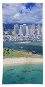 Honolulu, Oahu Bath Towel