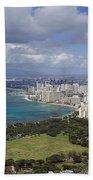 Honolulu Oahu Hawaii Bath Towel