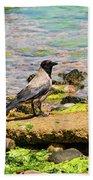 Hooded Crow Bath Towel