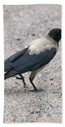 Hooded Crow Bath Towel