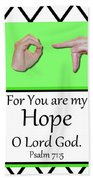 Hope - Bw Graphic Hand Towel