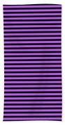 Horizontal Black Inside Stripes 30-p0169 Bath Towel