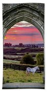 Horse At Sunrise In County Clare Hand Towel by James Truett