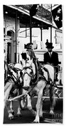 Horse Drawn Funeral Carriage Bath Towel