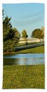 Horse Farm Pond Bath Towel
