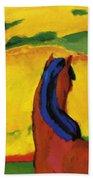 Horse In A Landscape 1910 Bath Towel
