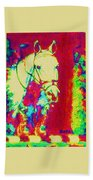 Horse Painting Jumper No Faults Psychedelic Bath Towel