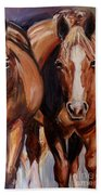 Horse Oil Painting Bath Sheet by Maria's Watercolor
