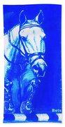 Horse Painting Jumper No Faults Aquamarine Bath Towel