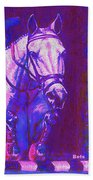 Horse Painting Jumper No Faults Purple And Blue Bath Towel
