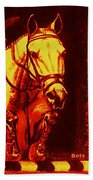 Horse Painting Jumper No Faults Reds Bath Towel