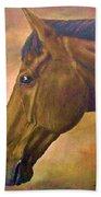 horse portraint PRINCETON pastel colors Bath Towel