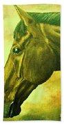 horse portrait PRINCETON soft colors Bath Towel