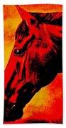 horse portrait PRINCETON sunset Bath Towel