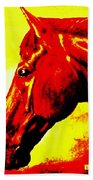 horse portrait PRINCETON yellow and red Bath Towel