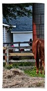 Horses Grazing Bath Towel