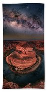 Horseshoe Bend With Milkyway Bath Towel