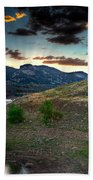 Horsetooth Reservior At Sunset Bath Towel