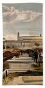 Hospital And Cemetery At Scutari, C.1854 Bath Towel