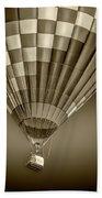 Hot Air Balloon And Bucket In Sepia Tone Bath Towel